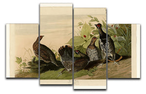 Spotted Grouse by Audubon 4 Split Panel Canvas - Canvas Art Rocks - 1