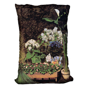 Spring flowers by Renoir Throw Pillow