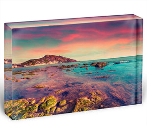 Spring sunset from the Giallonardo Acrylic Block - Canvas Art Rocks - 1
