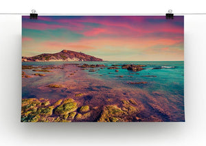 Spring sunset from the Giallonardo Canvas Print or Poster - Canvas Art Rocks - 2
