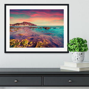 Spring sunset from the Giallonardo Framed Print - Canvas Art Rocks - 1