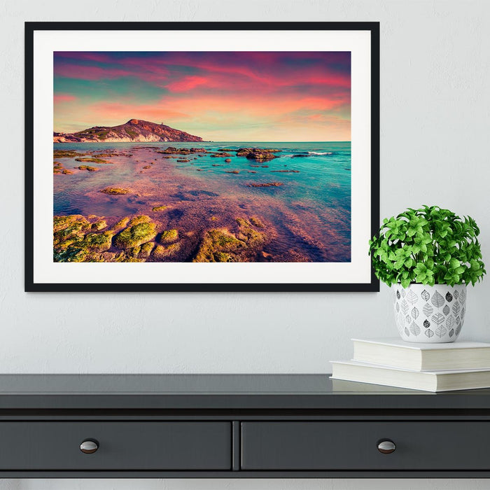 Spring sunset from the Giallonardo Framed Print