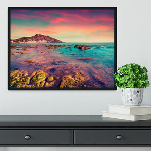 Spring sunset from the Giallonardo Framed Print - Canvas Art Rocks - 2