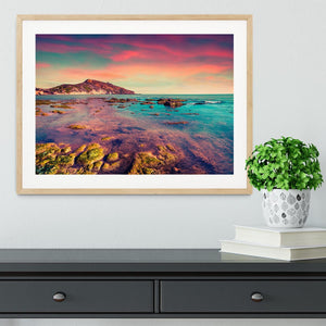Spring sunset from the Giallonardo Framed Print - Canvas Art Rocks - 3