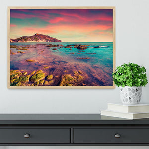 Spring sunset from the Giallonardo Framed Print - Canvas Art Rocks - 4