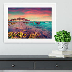 Spring sunset from the Giallonardo Framed Print - Canvas Art Rocks - 5