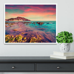 Spring sunset from the Giallonardo Framed Print - Canvas Art Rocks -6