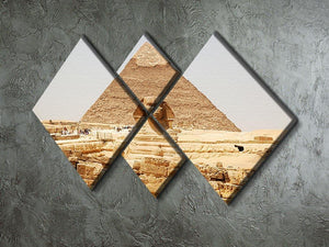 Spynx face on the Giza pyramid 4 Square Multi Panel Canvas  - Canvas Art Rocks - 2