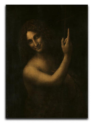 St. John the Baptist by Da Vinci Canvas Print & Poster  - Canvas Art Rocks - 1