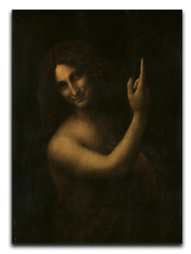 St. John the Baptist by Da Vinci Canvas Print or Poster