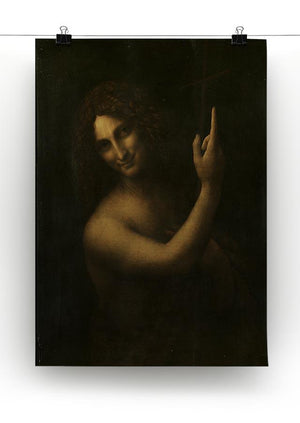 St. John the Baptist by Da Vinci Canvas Print & Poster - Canvas Art Rocks - 2