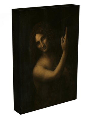 St. John the Baptist by Da Vinci Canvas Print & Poster - Canvas Art Rocks - 3