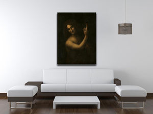 St. John the Baptist by Da Vinci Canvas Print & Poster - Canvas Art Rocks - 4
