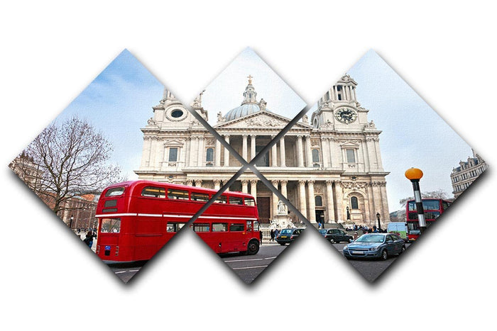 St Paul Cathedral 4 Square Multi Panel Canvas