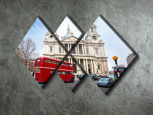 St Paul Cathedral 4 Square Multi Panel Canvas  - Canvas Art Rocks - 2