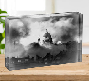 St Pauls Survives Acrylic Block - Canvas Art Rocks - 2