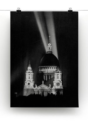 St Pauls floodlight on VE Day Canvas Print or Poster - Canvas Art Rocks - 2