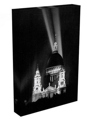 St Pauls floodlight on VE Day Canvas Print or Poster - Canvas Art Rocks - 3