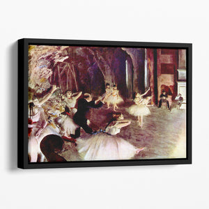 Stage trial by Degas Floating Framed Canvas