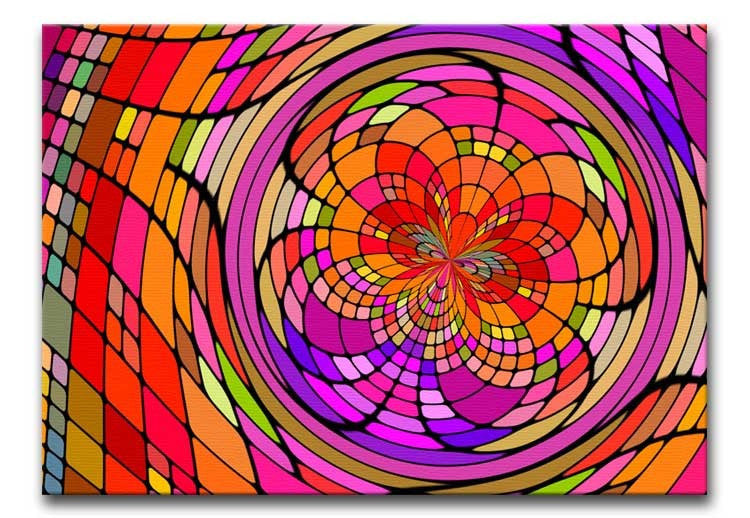 Stained Glass Artwork Print - Canvas Art Rocks - 1