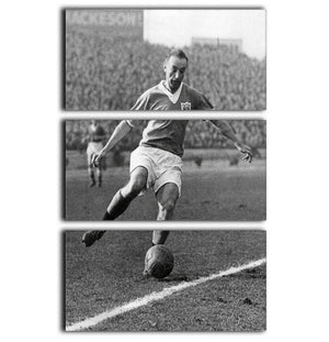 Stanley Matthews playing football 3 Split Panel Canvas Print - Canvas Art Rocks - 1