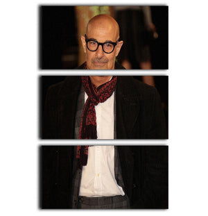 Stanley Tucci 3 Split Panel Canvas Print - Canvas Art Rocks - 1