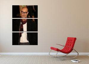 Stanley Tucci 3 Split Panel Canvas Print - Canvas Art Rocks - 2