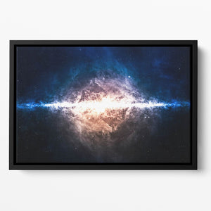 Star field in deep space Floating Framed Canvas
