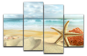 Starfish 4 Split Panel Canvas - Canvas Art Rocks - 1
