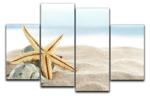 Starfish on the Beach 4 Split Panel Canvas - Canvas Art Rocks - 1
