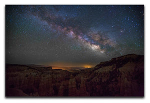 Starry Mountains Print - Canvas Art Rocks - 1