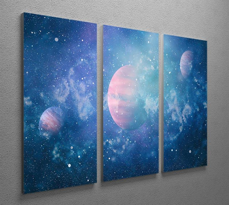 Stary Planet Space 3 Split Panel Canvas Print - Canvas Art Rocks - 2