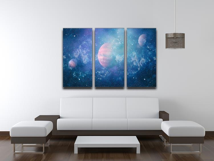 Stary Planet Space 3 Split Panel Canvas Print - Canvas Art Rocks - 3