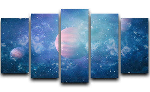Stary Planet Space 5 Split Panel Canvas  - Canvas Art Rocks - 1