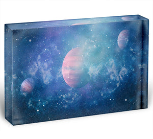 Stary Planet Space Acrylic Block - Canvas Art Rocks - 1