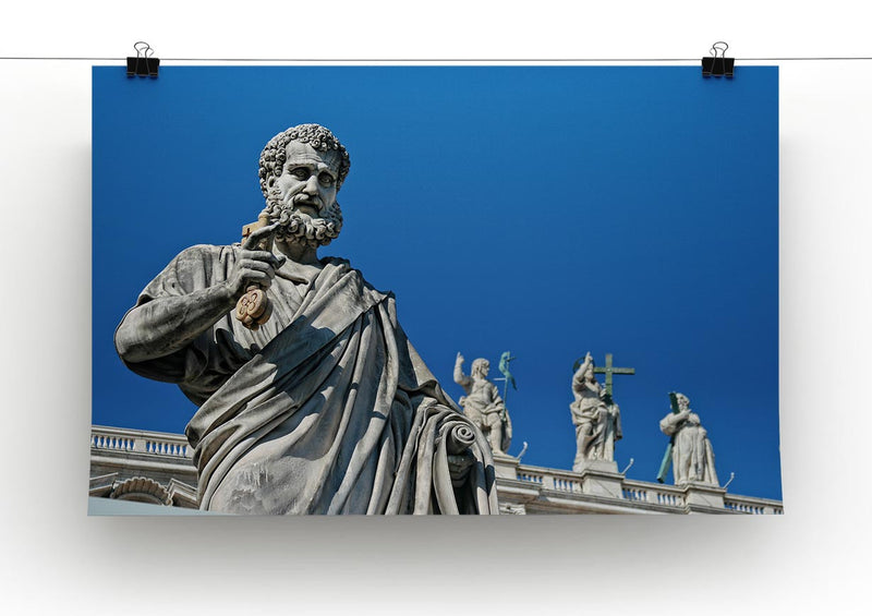 Statue In Italy Print - Canvas Art Rocks - 2