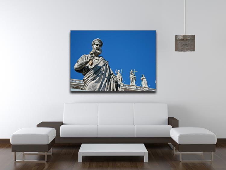 Statue In Italy Print - Canvas Art Rocks - 4