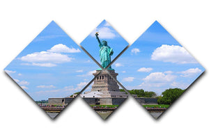 Statue of Liberty 4 Square Multi Panel Canvas  - Canvas Art Rocks - 1
