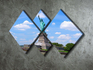 Statue of Liberty 4 Square Multi Panel Canvas  - Canvas Art Rocks - 2