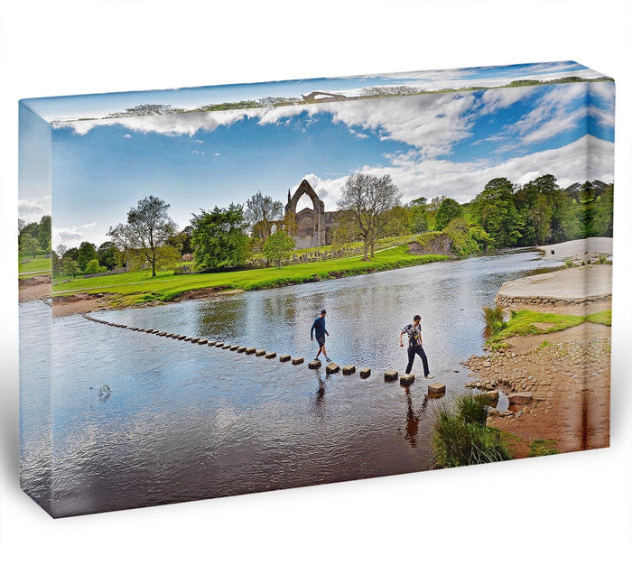 Stepping stones at Bolton Abbey Acrylic Block