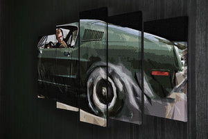 Steve McQueen Bullitt Reverse 5 Split Panel Canvas - Canvas Art Rocks - 2
