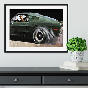Steve McQueen Bullitt Reverse Framed Print - Canvas Art Rocks - 1