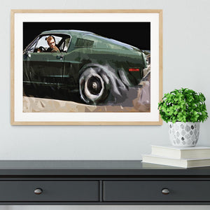 Steve McQueen Bullitt Reverse Framed Print - Canvas Art Rocks - 3