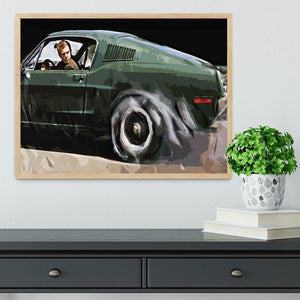 Steve McQueen Bullitt Reverse Framed Print - Canvas Art Rocks - 4