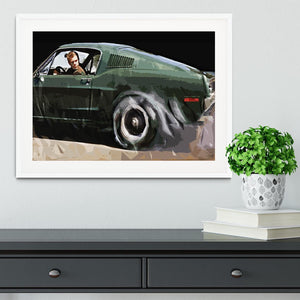 Steve McQueen Bullitt Reverse Framed Print - Canvas Art Rocks - 5