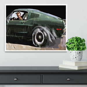 Steve McQueen Bullitt Reverse Framed Print - Canvas Art Rocks -6