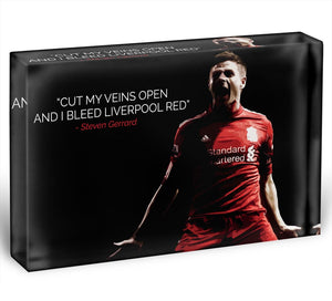 Steven Gerrard Liverpool Red Acrylic Block - Canvas Art Rocks - 1