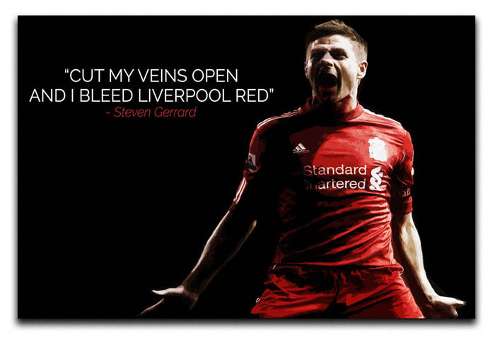 Steven Gerrard Liverpool Red Canvas Print or Poster