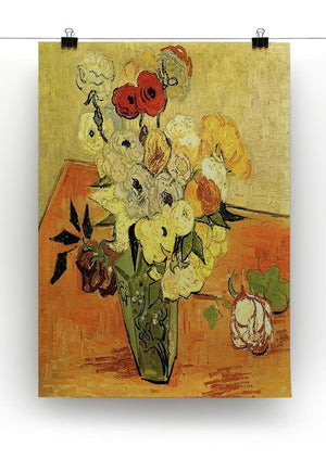 Still Life Japanese Vase with Roses and Anemones by Van Gogh Canvas Print & Poster - Canvas Art Rocks - 2