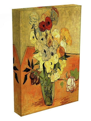 Still Life Japanese Vase with Roses and Anemones by Van Gogh Canvas Print & Poster - Canvas Art Rocks - 3